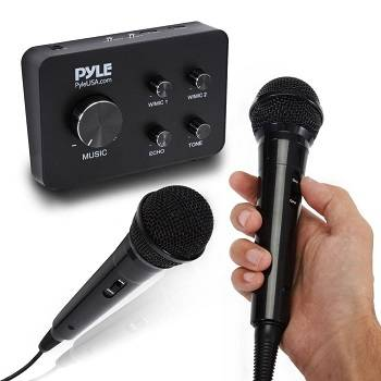 Pyle Portable Home Theater Karaoke Microphone Mixer review