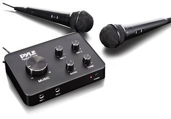 Pyle Portable Home Theater Karaoke Microphone Mixer